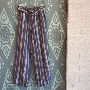 Summery striped Linen Beach Palazzo Pants